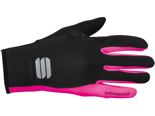 Sportful WS Essential 2 Guantes Mujer, negro/rosa